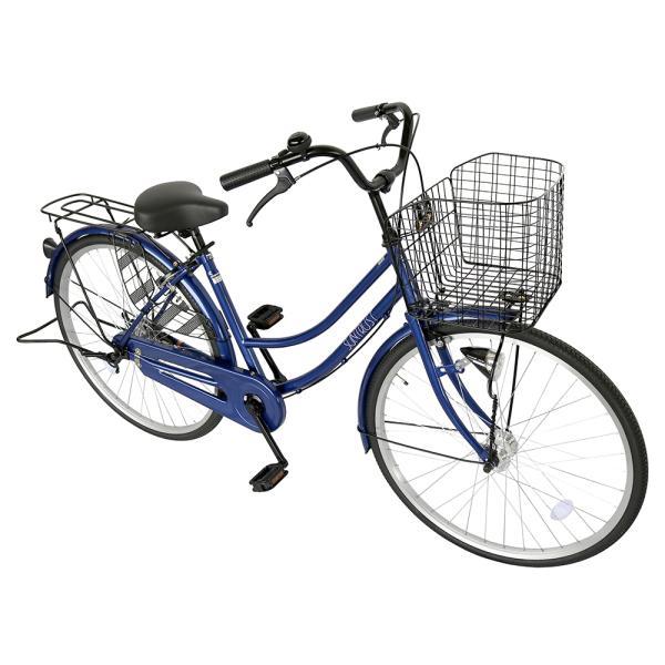 ママチャリ 26インチ オートライト 自転車 シティサイクル 安い 260HD ブルー 青 本体 新品 女子 男子 激安|jitensya-bank|03