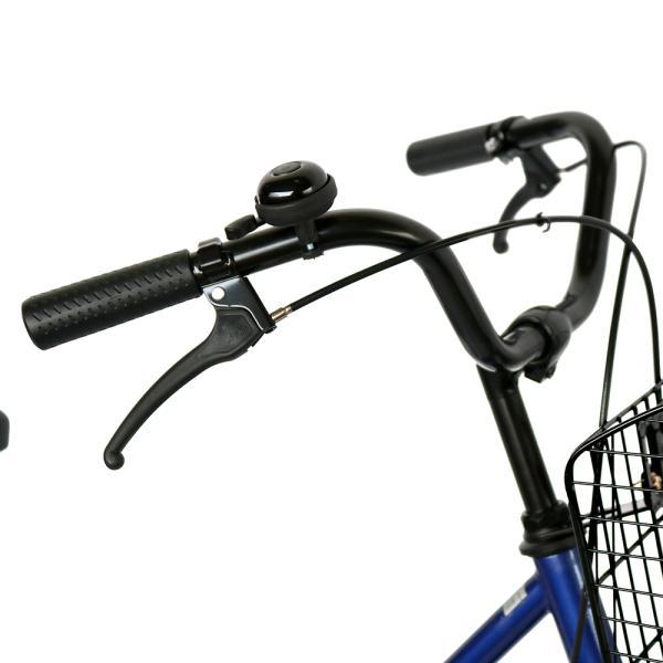 ママチャリ 26インチ オートライト 自転車 シティサイクル 安い 260HD ブルー 青 本体 新品 女子 男子 激安|jitensya-bank|04
