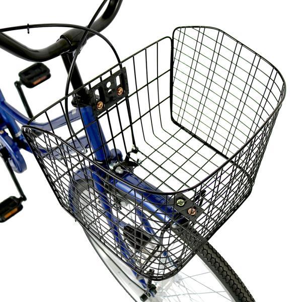 ママチャリ 26インチ オートライト 自転車 シティサイクル 安い 260HD ブルー 青 本体 新品 女子 男子 激安|jitensya-bank|05