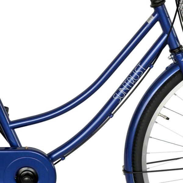 ママチャリ 26インチ オートライト 自転車 シティサイクル 安い 260HD ブルー 青 本体 新品 女子 男子 激安|jitensya-bank|07