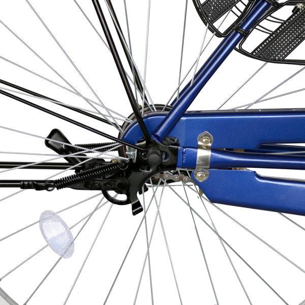 ママチャリ 26インチ オートライト 自転車 シティサイクル 安い 260HD ブルー 青 本体 新品 女子 男子 激安|jitensya-bank|08