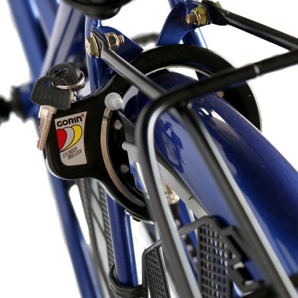 ママチャリ 26インチ オートライト 自転車 シティサイクル 安い 260HD ブルー 青 本体 新品 女子 男子 激安|jitensya-bank|09