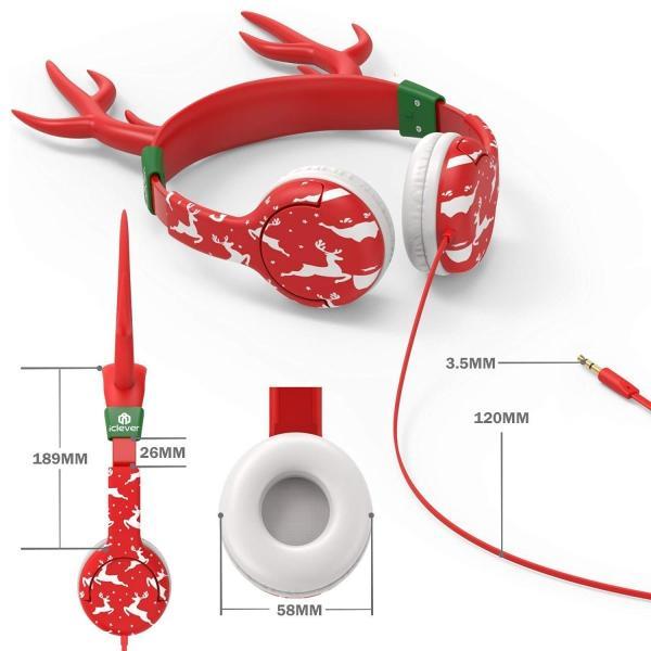 ヘッドホン キッズ 密閉型 可愛い iClever 子供プレゼントボリューム制限機能 安全素材