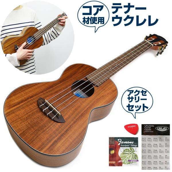 ウクレレ 初心者 アクセサリーセット アヌエヌエ Aqua-CK3 (aNueNue テナーサイズ)|jivemusic