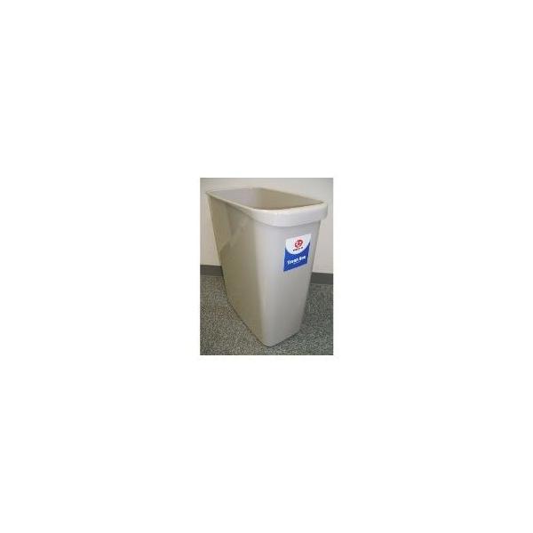 (業務用30セット)ジョインテックス 持ち手付きゴミ箱角型18L グレー N156J-G