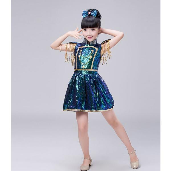 ダンス衣装 スパンコール ワンピース ダンス衣装 ヒップホップ hiphop スパンコール  ダンス衣装  子供 セットアップ キッズ ジャケット 女の子 男の子|jj-shop|02