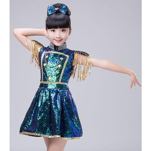 ダンス衣装 スパンコール ワンピース ダンス衣装 ヒップホップ hiphop スパンコール  ダンス衣装  子供 セットアップ キッズ ジャケット 女の子 男の子|jj-shop|03