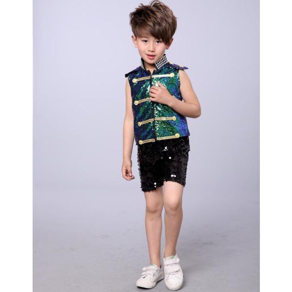ダンス衣装 スパンコール ワンピース ダンス衣装 ヒップホップ hiphop スパンコール  ダンス衣装  子供 セットアップ キッズ ジャケット 女の子 男の子|jj-shop|07