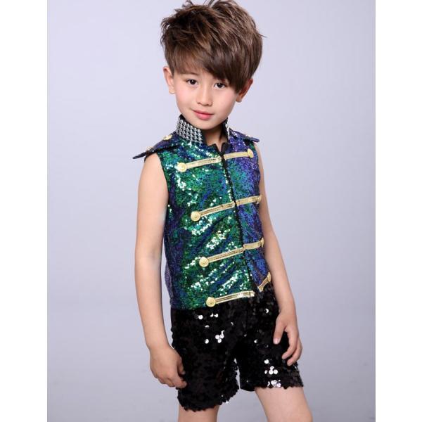 ダンス衣装 スパンコール ワンピース ダンス衣装 ヒップホップ hiphop スパンコール  ダンス衣装  子供 セットアップ キッズ ジャケット 女の子 男の子|jj-shop|08