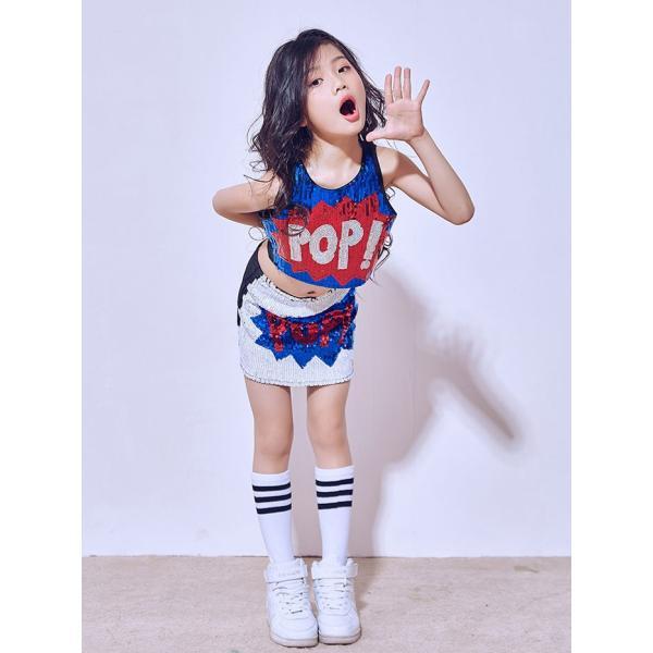 「3800→3500」セール チアガール 衣装 スパンコール ダンス衣装 ヒップホップ ステージ 衣装 ジャズダンス衣装 子供 女の子 チア ダンス衣装 ヒップホップ|jj-shop|04