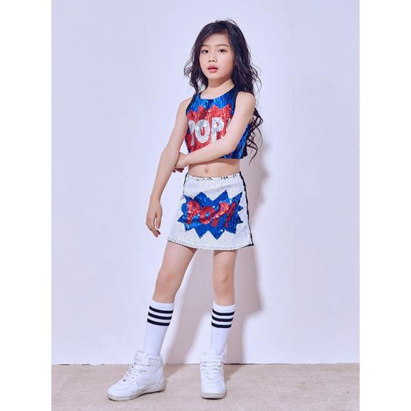 「3800→3500」セール チアガール 衣装 スパンコール ダンス衣装 ヒップホップ ステージ 衣装 ジャズダンス衣装 子供 女の子 チア ダンス衣装 ヒップホップ|jj-shop|05