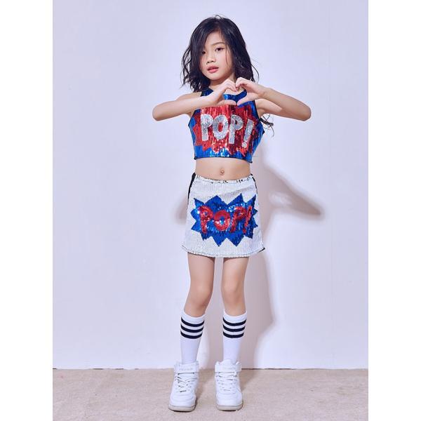 「3800→3500」セール チアガール 衣装 スパンコール ダンス衣装 ヒップホップ ステージ 衣装 ジャズダンス衣装 子供 女の子 チア ダンス衣装 ヒップホップ|jj-shop|07