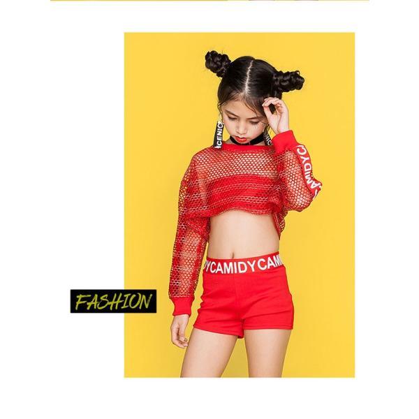 「3860→2980」セール ダンス 衣装 ヒップホップ キッズ ダンス 衣装 ジャズダンス ステージ衣装 セットアップ ガールズ トップス パンツ チアガール 衣装|jj-shop|03