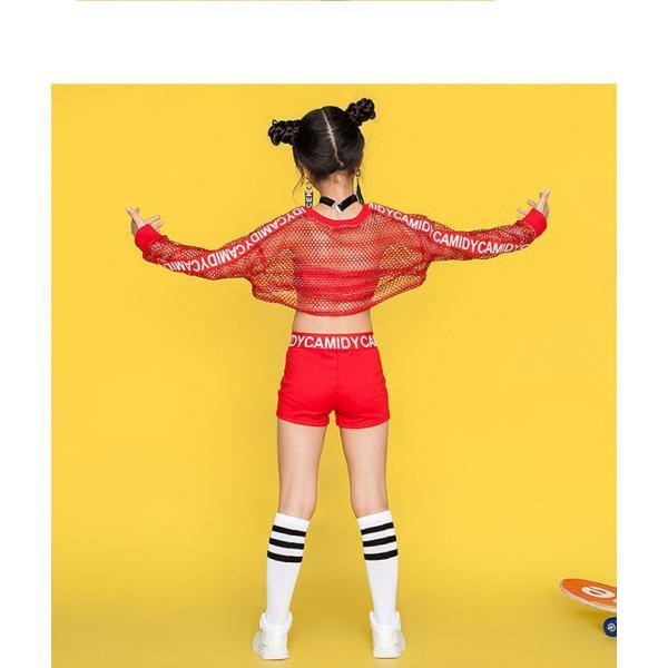 「3860→2980」セール ダンス 衣装 ヒップホップ キッズ ダンス 衣装 ジャズダンス ステージ衣装 セットアップ ガールズ トップス パンツ チアガール 衣装|jj-shop|06