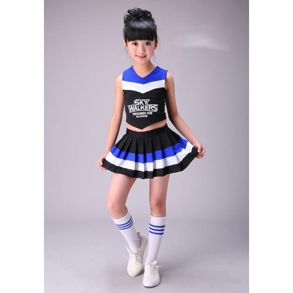 ¥2000チアガール 衣装 女の子 チア コスプレ 衣装 ダンス衣装 入学式  子供用 キッズ チアリーダー ユニフォーム ダンス 衣装 社交ダンス 発表会 応援団|jj-shop|05