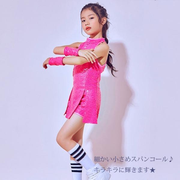 「3600→3200」セール ダンス 衣装 スパンコール ヒップホップ キッズ  ジャズダンス ステージ衣装 セットアップ ハイソックス キッズ ダンス チア ユニフォーム|jj-shop|04