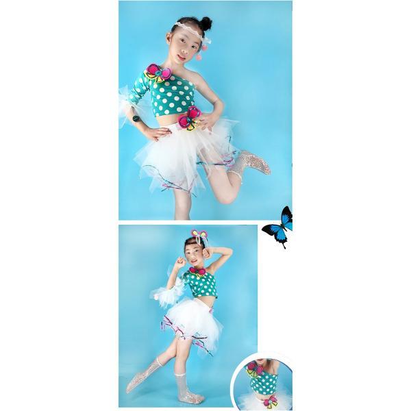 「3580→3200」セール 新作 ドット ダンス衣装 キッズ セットアップ ガールズ スパンコール トップス パンツ 子供用 女の子 男の子 ステージ チアガール jj-shop 03