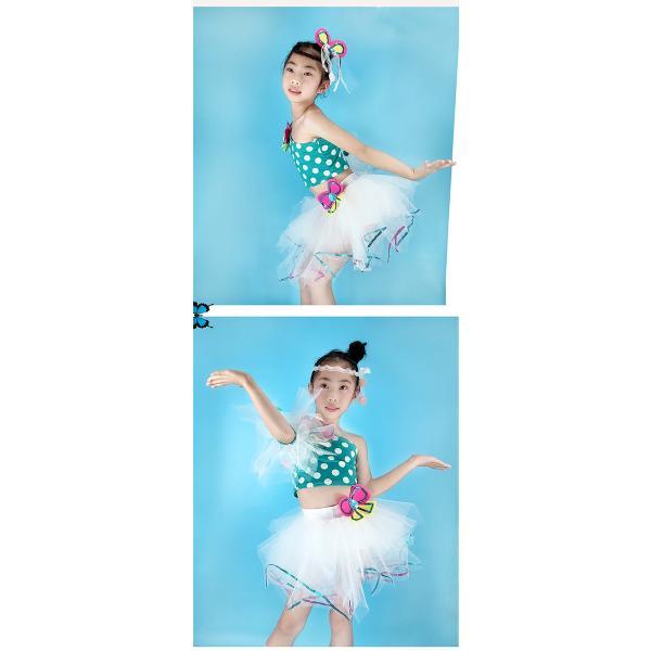 「3580→3200」セール 新作 ドット ダンス衣装 キッズ セットアップ ガールズ スパンコール トップス パンツ 子供用 女の子 男の子 ステージ チアガール jj-shop 04