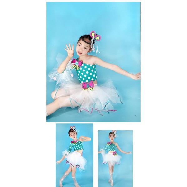「3580→3200」セール 新作 ドット ダンス衣装 キッズ セットアップ ガールズ スパンコール トップス パンツ 子供用 女の子 男の子 ステージ チアガール jj-shop 05
