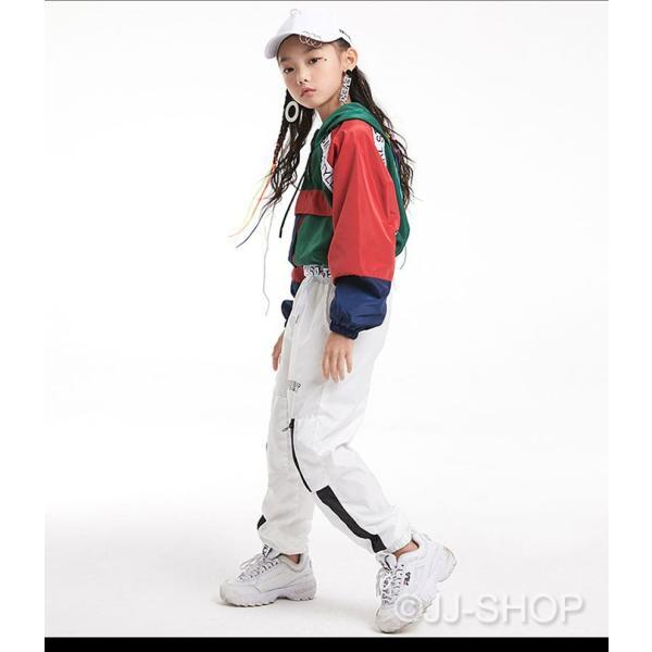 キッズ ダンス衣装 レディース ヒップホップ セットアップ ダンストップス パンツ チア ジャズダンス 体操服 ジャケット アウター パーカー ブルゾン jj-shop 05