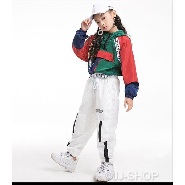 キッズ ダンス衣装 レディース ヒップホップ セットアップ ダンストップス パンツ チア ジャズダンス 体操服 ジャケット アウター パーカー ブルゾン jj-shop 10