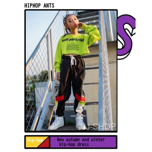 ジャズダンス キッズ ダンス衣装 ヒップホップ セットアップ 子供 ダンスパンツ ダンストップス HIPHOP 演出服 長袖 ステージ衣装 練習着 おしゃれ ステージ衣装 jj-shop 03