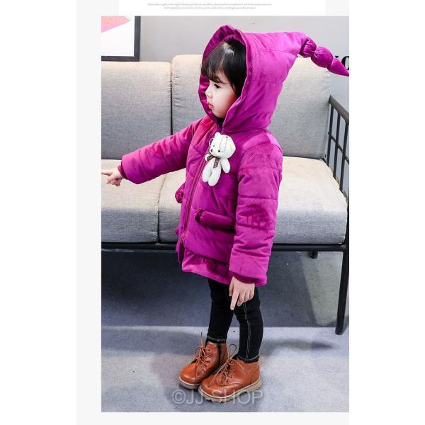 0ee7f39d66d35 ... 安い 冬着 子供服 子供キッズ コート 女の子 アウター コートアウター ジャケット ファー部分 韓国 ...
