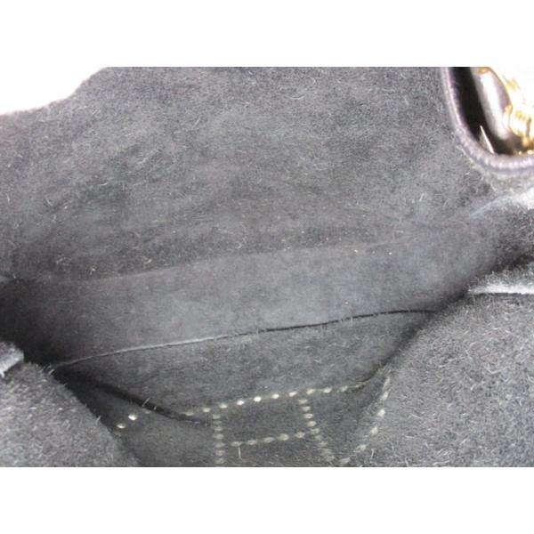 【中古】エルメス ショルダーバッグ エブリン1 GM トゴ ブラック □G刻印