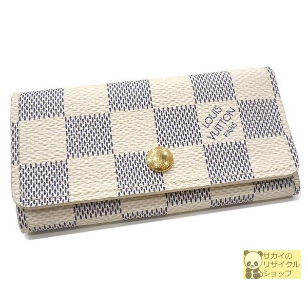 louis vuitton ルイヴィトン 4連キーケース ダミエ アズール www