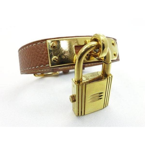 レディース腕時計 ケリーウォッチ GP/レザー クオーツ ブラウン×ゴールド ホワイト文字盤 □A刻印【06/0416@ra】|jjcollection2008|04