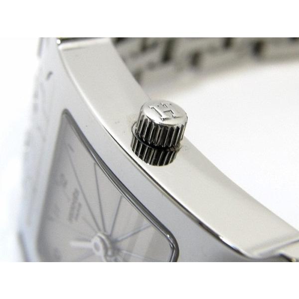【中古】エルメス Hウォッチ レディース 腕時計 クオーツ 文字盤ホワイト SS HH1.210