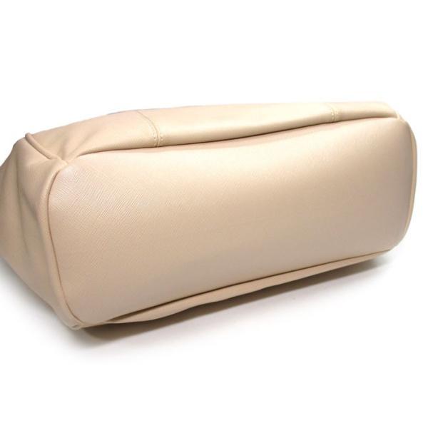 【中古】サマンサベガ トートバッグ フェイクレザー 携帯ケース付き ベージュ/花柄