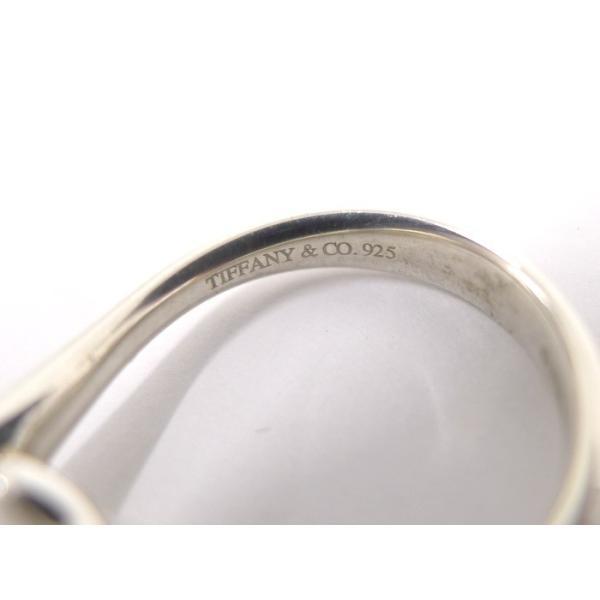 【中古】 ティファニー シルバーリング ビーンズ SV925 実寸:約7号