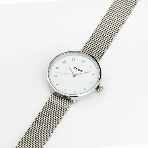 腕時計 メンズ レディース ギフト ペアウォッチ KLON CONNECTION ELFIN LATTER SILVER MESH