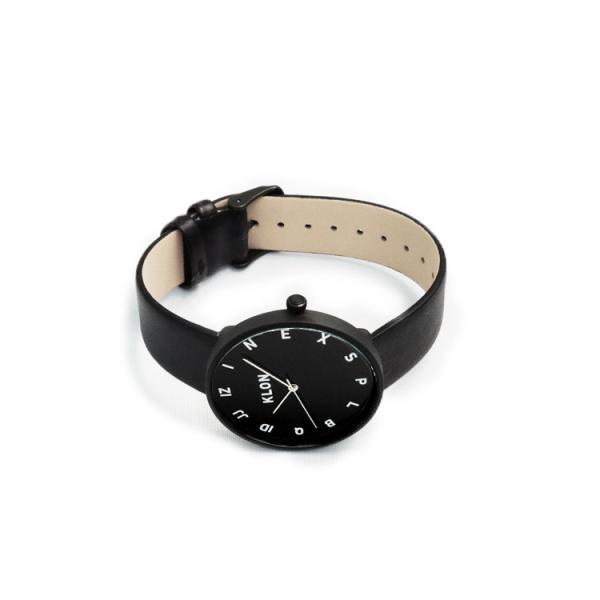 腕時計 メンズ レディース ギフト ウォッチ KLON MOCK NUMBER BLACK FRAME