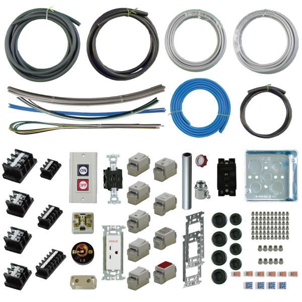 準備万端シリーズ (1回練習分) 平成30年度 第一種電気工事士 技能試験セット 練習用材料 全10問分の器具・電線セット|jmn-denki