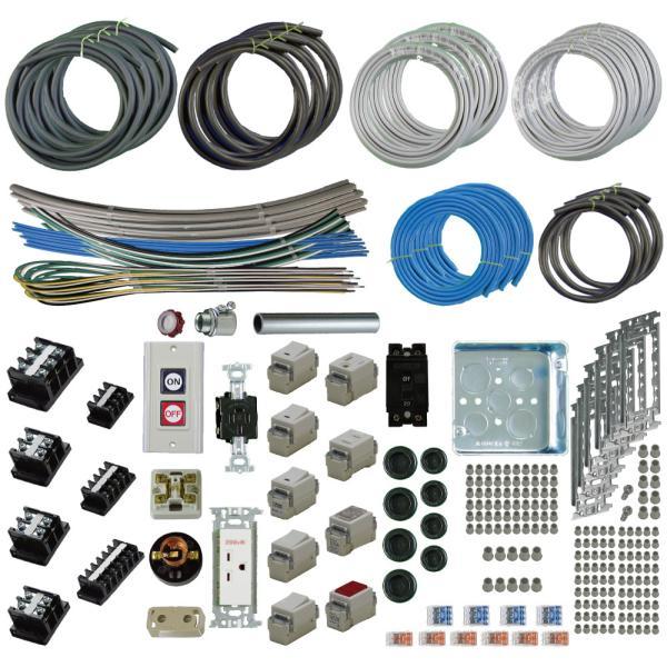 準備万端シリーズ (3回練習分) 平成30年度 第一種電気工事士 技能試験セット 練習用材料 全10問分の器具・電線セット|jmn-denki
