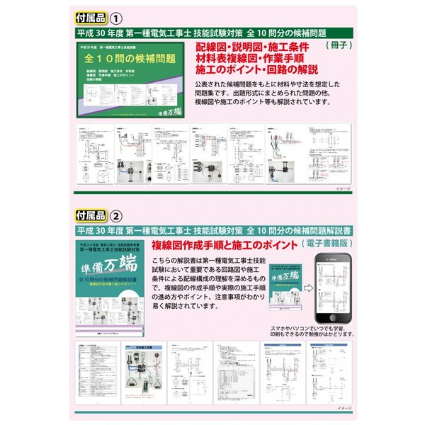 平成30年度版 第一種電気工事士 技能試験セット 練習用材料「これいいね!」追加器具セット|jmn-denki|03