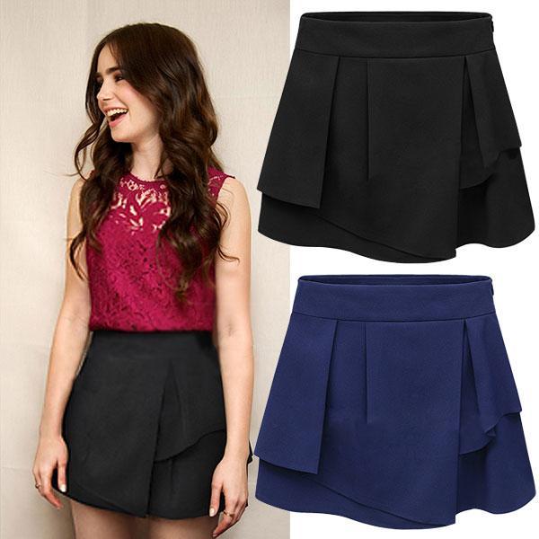 キュロット フリル スカート ショートパンツ ミニスカート|jnhshop