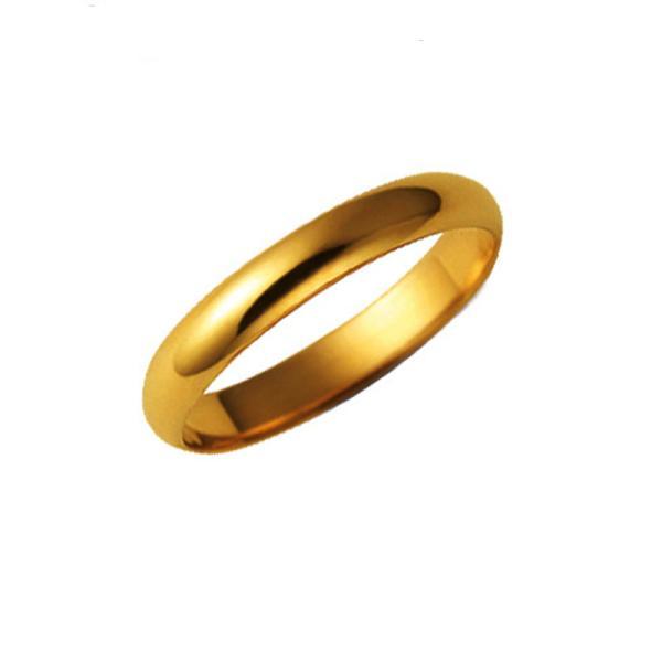純金リング K24 甲丸シンプル 巾3mm3g 結婚指輪 24金 指輪 高密度 鍛造 たんぞう 記念日 ギフト オーダー 手造り
