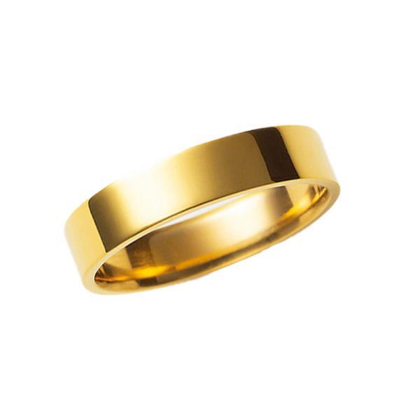 純金リング 小さいサイズ K24 24金 平打 巾4mm5g 結婚指輪 マリッジ オーダー 高密度 鍛造 たんぞう 記念日 ギフト 手造り