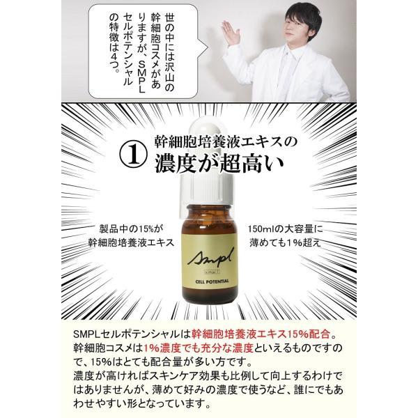 ☆コスパ重視の幹細胞コスメ☆【ヒト幹細胞エキス15%配合】SMPL セルポテンシャル|jobikai|05