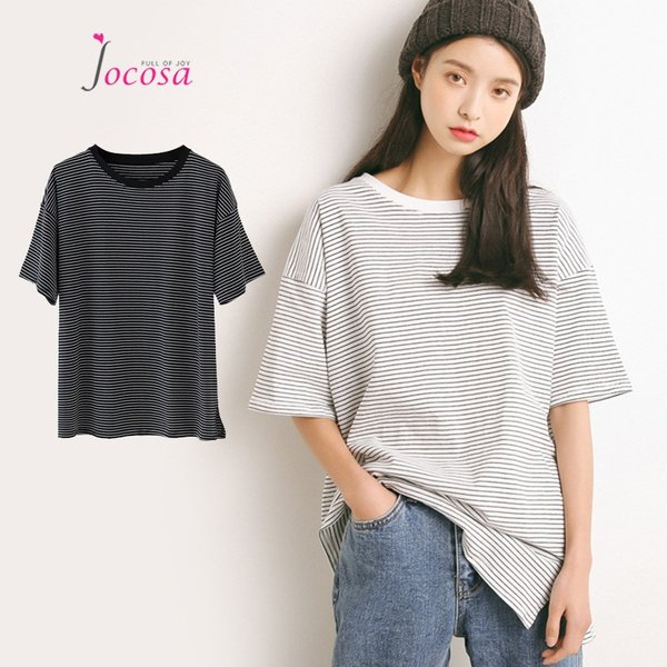 Tシャツ 半袖 ボーダー 綿100% 5分袖 トップス