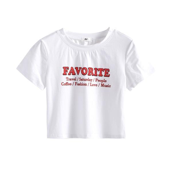 Tシャツ レディース 半袖 ロゴ へそ出し ショート丈 トップス 春 夏 秋 冬 薄手 カジュアル レッド ホワイト ラベンダー 赤 白 紫 JOCOSA 8952|jocosa|21