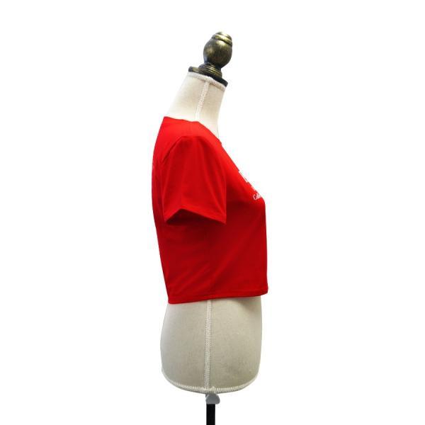 Tシャツ レディース 半袖 ロゴ へそ出し ショート丈 トップス 春 夏 秋 冬 薄手 カジュアル レッド ホワイト ラベンダー 赤 白 紫 JOCOSA 8952|jocosa|06