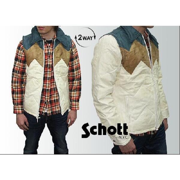 Schott N.Y.C. ショット ダウンジャケット 【アウトレット・色移り有り】|joenet