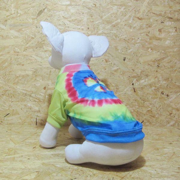 ロックなカラフルタイダイ風Tシャツ ピースマーク 3Sサイズ|johnlazz|02