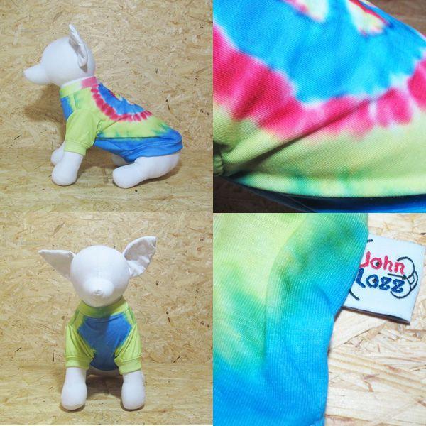 ロックなカラフルタイダイ風Tシャツ ピースマーク 3Sサイズ|johnlazz|04