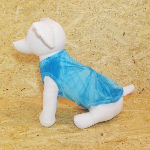 エスニック 民族系犬服 タイダイタンク ブルー 1号サイズ|johnlazz|03