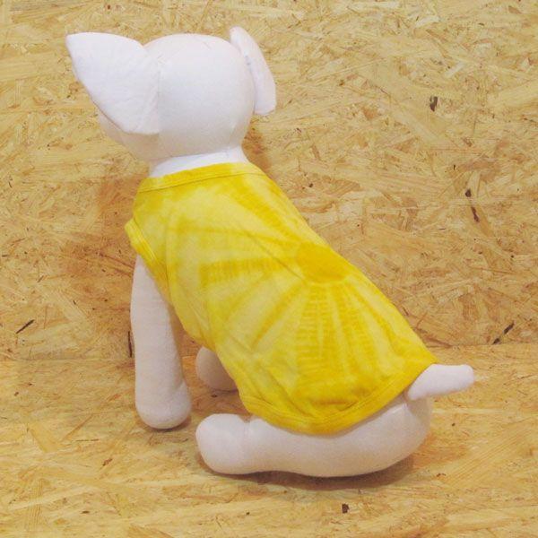 エスニック 民族系犬服 タイダイタンク イエロー 1号サイズ|johnlazz|02